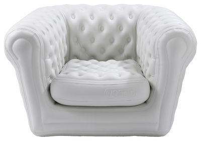 Möbel - Möbel für Teens - Big Blo 1 Aufblasbarer Sessel aufblasbar - Blofield - Weiß - Nylon, PVC