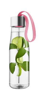 Tavola - Caraffe e Decantatori - Borraccia MyFlavour  0,75L - / Plastica ecologica - Spiedino per aromatizzare di Eva Solo - Berry red - Acciaio inossidabile, Plastica ecologica, Tessuto