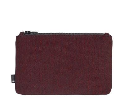 Accessories - Bags, Purses & Luggage - Zip Medium Case - L 22,5 x H 14 cm by Hay - Red - Kvadrat fabric