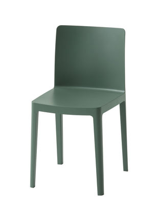 Furniture - Chairs - Elementaire Chair by Hay - Smoked green - Fibreglass, Polypropylene