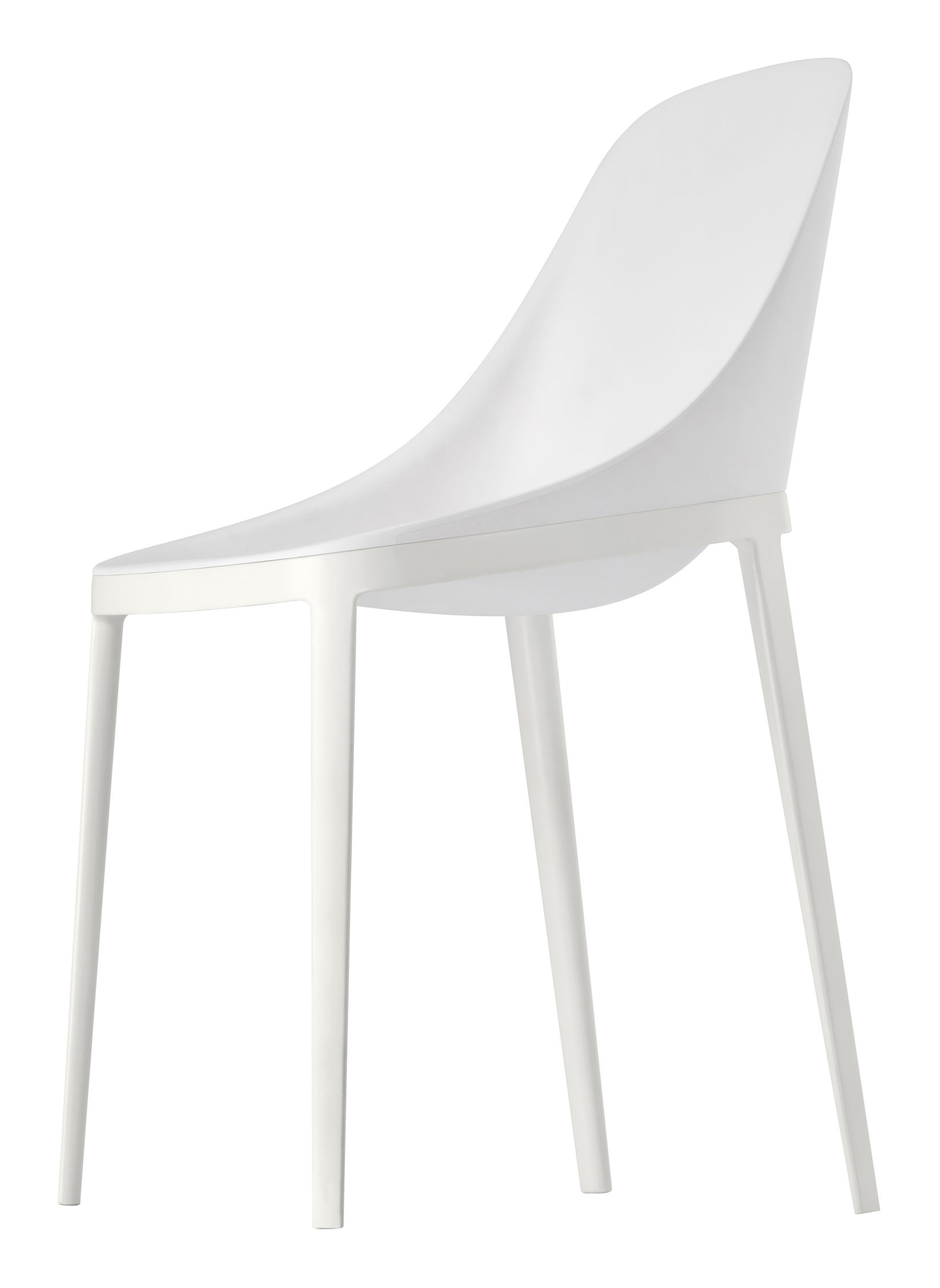Chaise Elle Assise Polyurethane Pieds Metal Polyuretahne Blanc