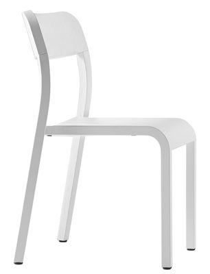Chaise empilable Blocco / Bois - Plank blanc en bois