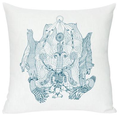 Déco - Pour les enfants - Coussin Rarara / 40 x 40 cm - Domestic - Rarara / Turquoise - Coton, Lin