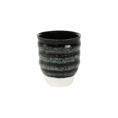 Tableware - Wine Glasses & Glassware - Dashi Cup - / 30 cl - Handmade stoneware by Jars Céramistes - Charcoal - Enamelled sandstone
