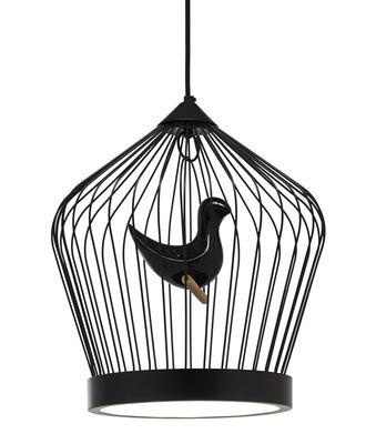 Figurine oiseau supplémentaire / Pour suspension Twee T. large - Casamania noir en céramique