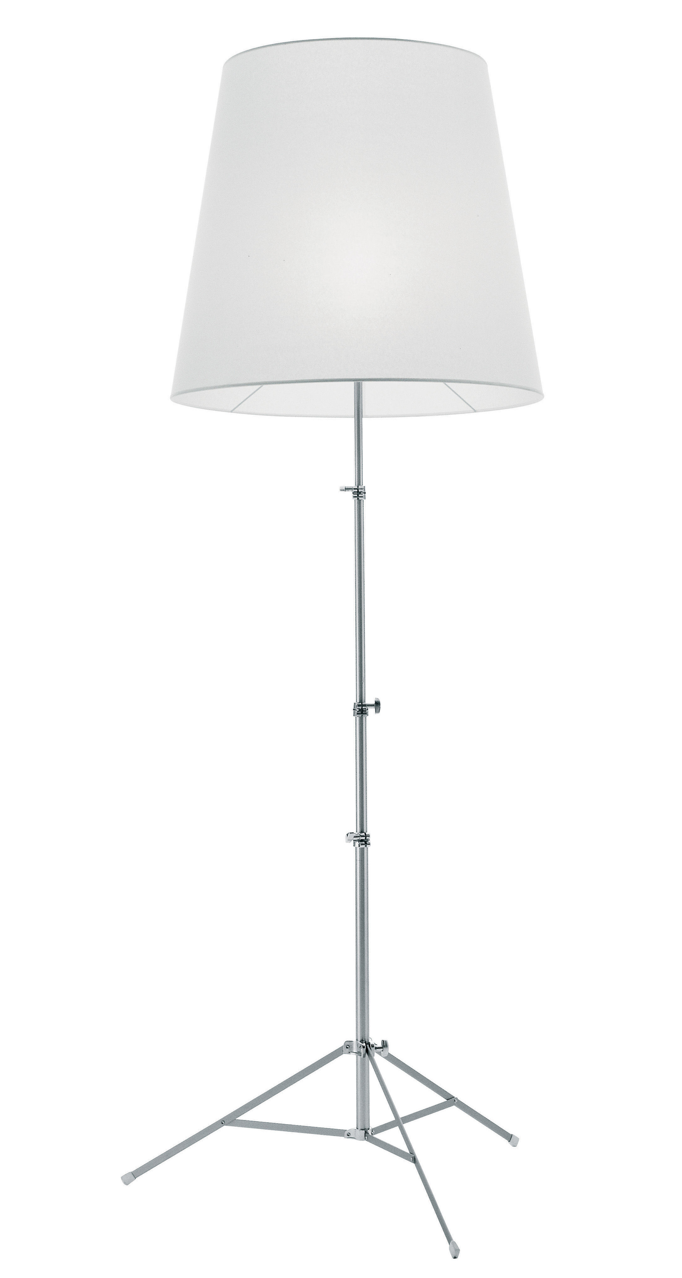Lighting - Floor lamps - Gilda Floor lamp by Pallucco - White synthetic paper - Anodized aluminium, Synthetic parchment paper