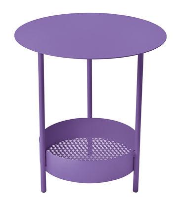 Mobilier - Tables basses - Guéridon Salsa / Ø 50 x H 50 cm - Fermob - Aubergine - Acier