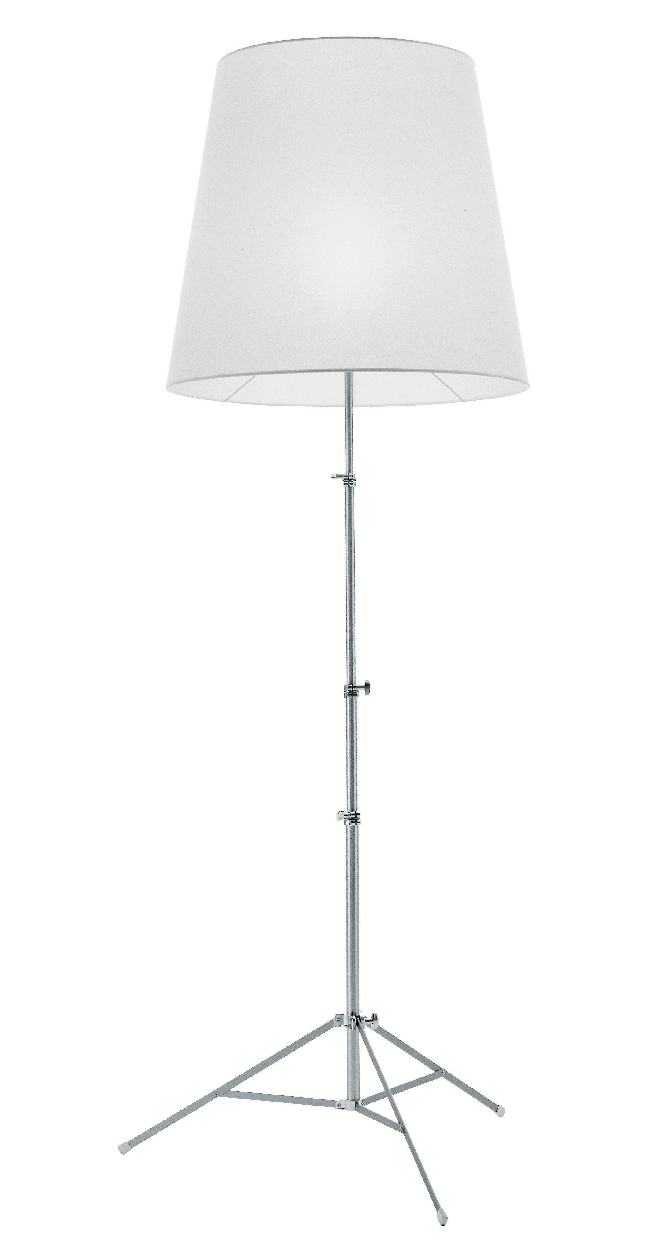Illuminazione - Lampade da terra - Lampada a stelo Gilda di Pallucco - Bianco - Pergamena sintetica - Alluminio anodizzato, Carta pergamena sintetica