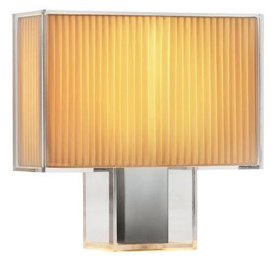 Illuminazione - Lampade da tavolo - Lampada da tavolo Tati di Kartell - Plissé - Acciaio cromato, policarbonato, Tessuto