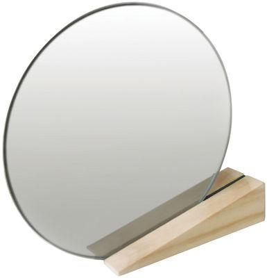 Miroir à poser On the edge - Thelermont Hupton noir,bois clair en bois