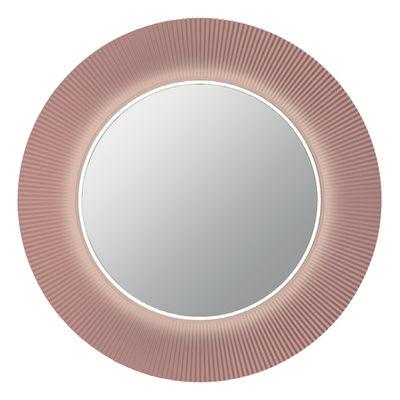 Miroir lumineux All saints LED / Ø 78 cm - Kartell rose nude en matière plastique
