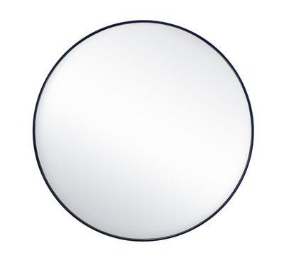 Déco - Miroirs - Miroir mural G16 / Ø 44,8 cm - Acier - Tolix - Bleu nuit - Acier recyclé laqué, Verre poli