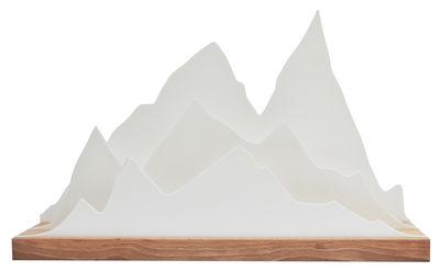 Accessori moda - Accessori ufficio - Organizzatore d'ufficio Alpes - / L 45 cm di L'atelier d'exercices - Legno / Bianco - Faggio massello, PMMA
