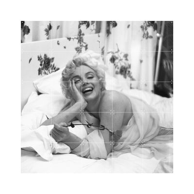 Panneau décoratif Marilyn - National Portrait Gallery / 100 x 100 cm - ixxi blanc,noir en papier