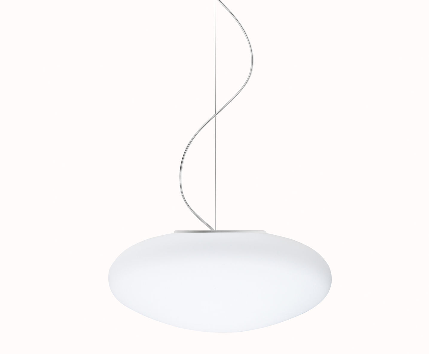 Leuchten - Pendelleuchten - White Pendelleuchte Ø 42 cm - Fabbian - Weiß - Ø 42 cm - Glas