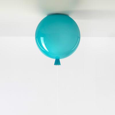 Image of Plafoniera Memory Small - / Ø 25 cm - Vetro di Brokis - Blu - Vetro