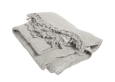 Decoration - Bedding & Bath Towels - Crinkle Plaid - / Pleated cotton - 210 x 150 cm by Hay - Grey - Coton plissé
