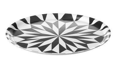 Arts de la table - Plateaux - Plateau Star / Assiette de présentation - ø 31 cm - Ferm Living - Noir , Blanc - Laminé
