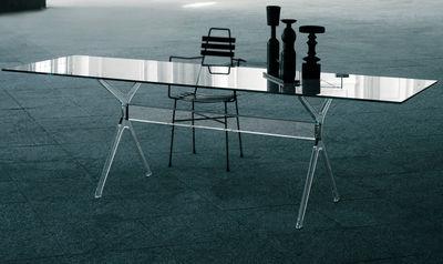 Möbel - Tische - Vitruvian rechteckiger Tisch 200 x 90 cm - Glas Italia - Transparent - Cristal trempé