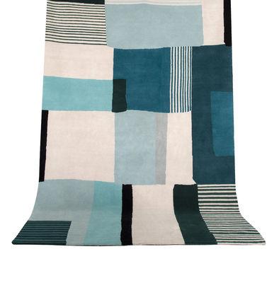 Decoration - Rugs - Boro Large Rug - / 200 x 300 cm by Maison Sarah Lavoine - Blue - Cotton, New-zealand wool