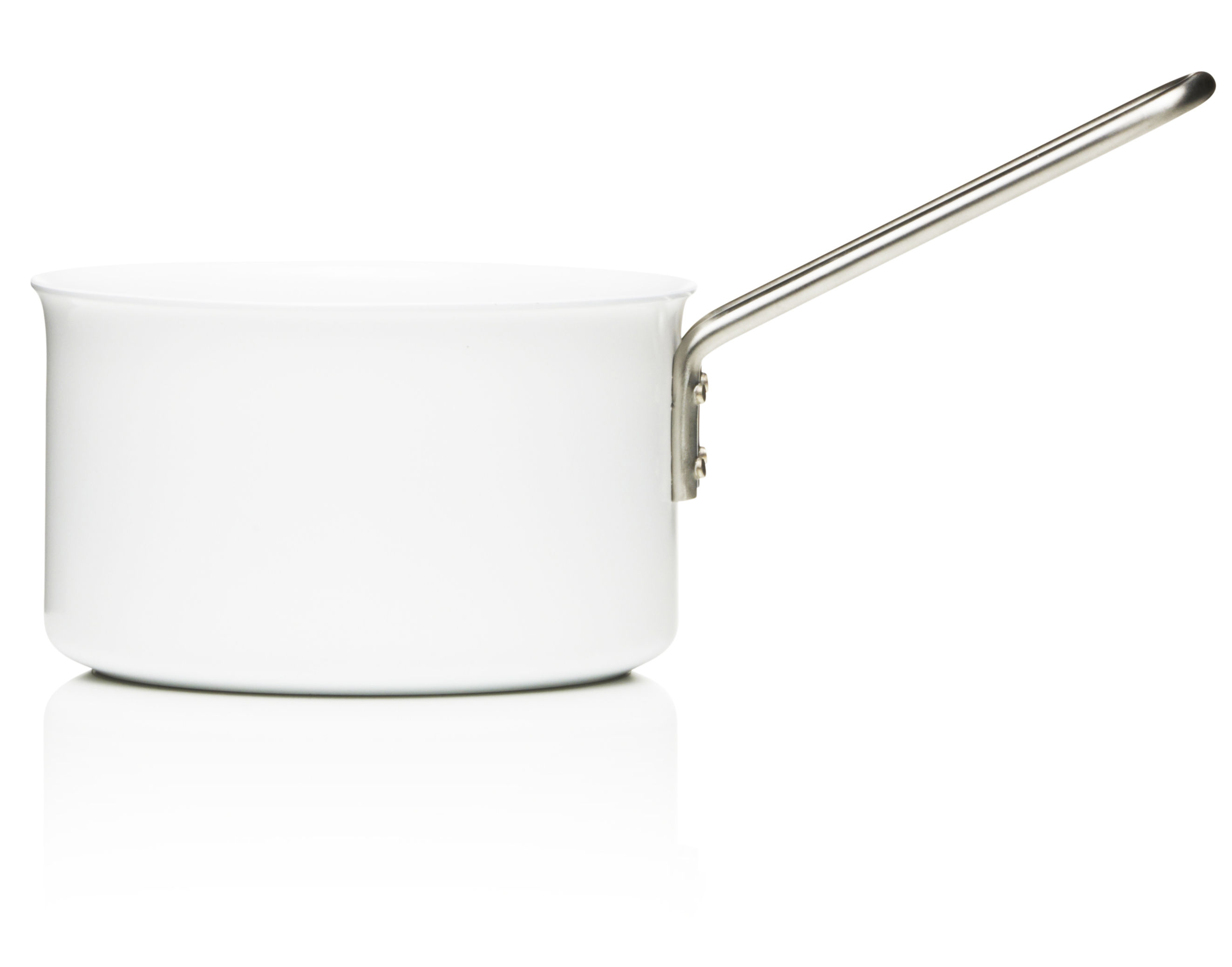 Kitchenware - Pots & Pans - White Line saucepan - 1.8L - Web exclusivity by Eva Trio - White - Aluminium, Ceramic, Stainless steel
