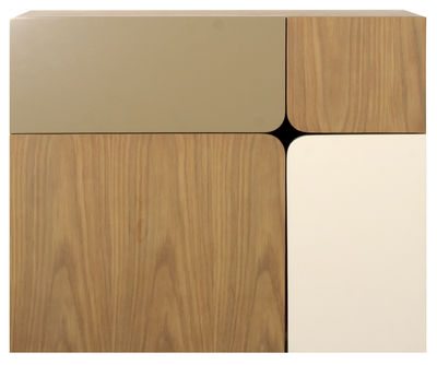secr taire mural 1 4 beige blanc bois enostudio made in design. Black Bedroom Furniture Sets. Home Design Ideas