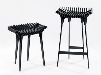 Sgabello alto grafite ibride grigio carbone l 40 x h 65 made