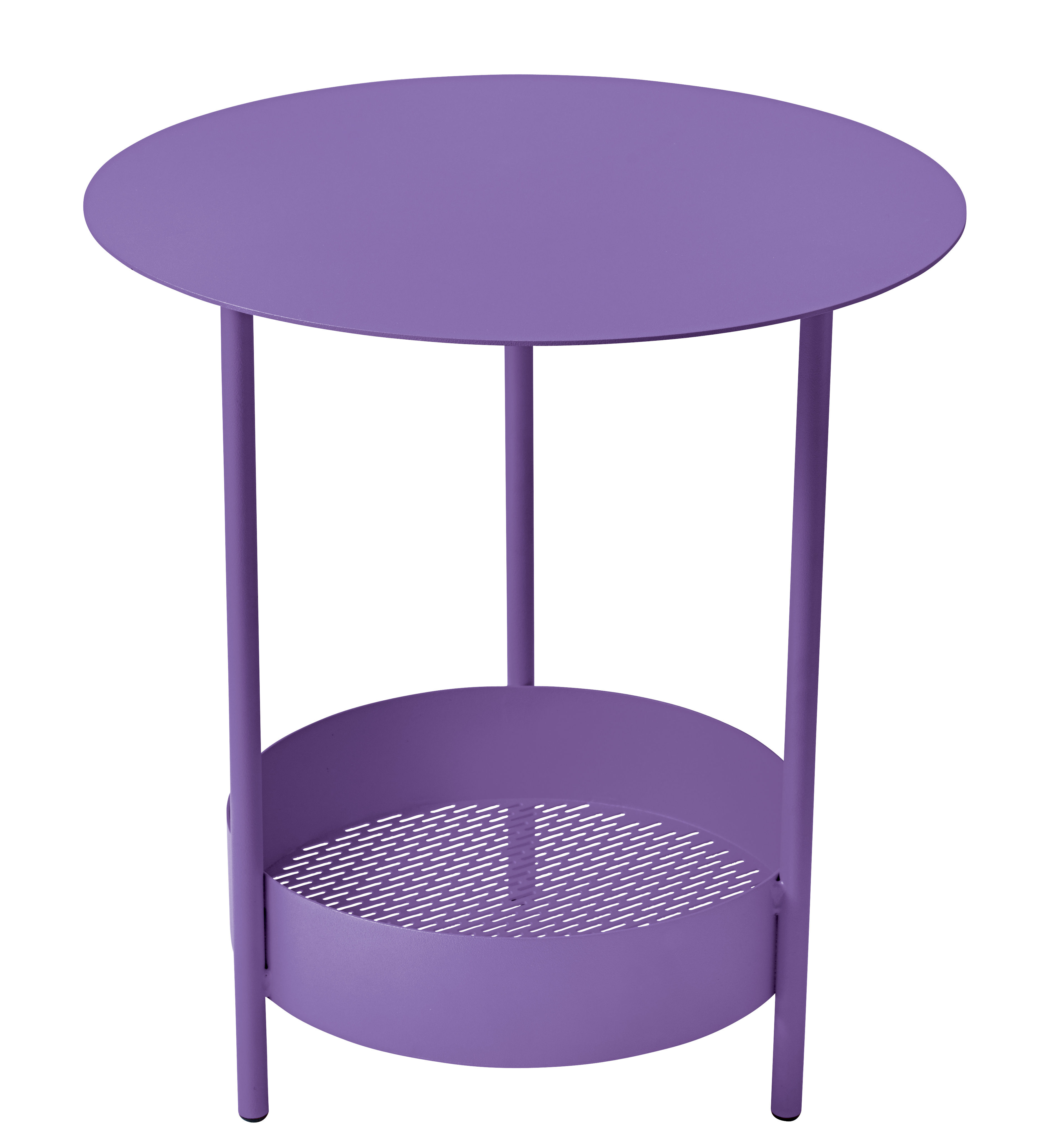 Furniture - Coffee Tables - Salsa Small table - Ø 50 x H 50 cm by Fermob - Aubergine - Steel