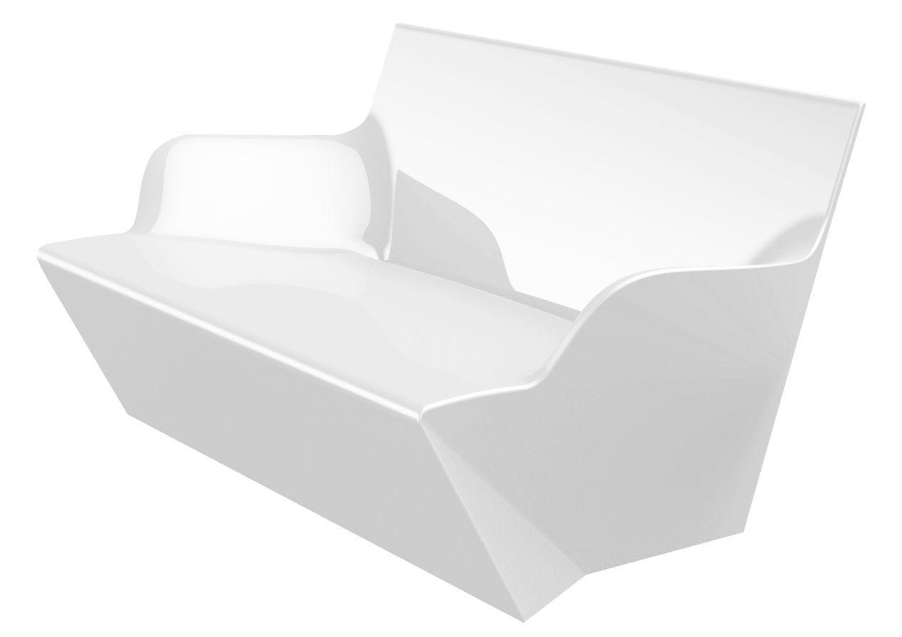 Outdoor - Poltrone e Divani - Sofà Kami Yon - versione laccata di Slide - Laccato bianco - polietilene riciclabile