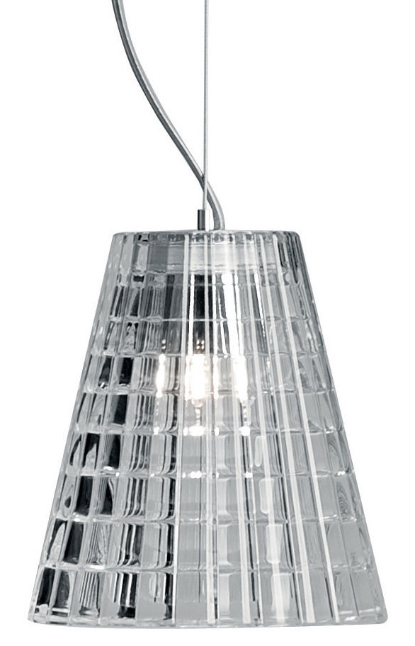 Illuminazione - Lampadari - Sospensione Flow - Ø 12 cm di Fabbian - Trasparente - Vetro