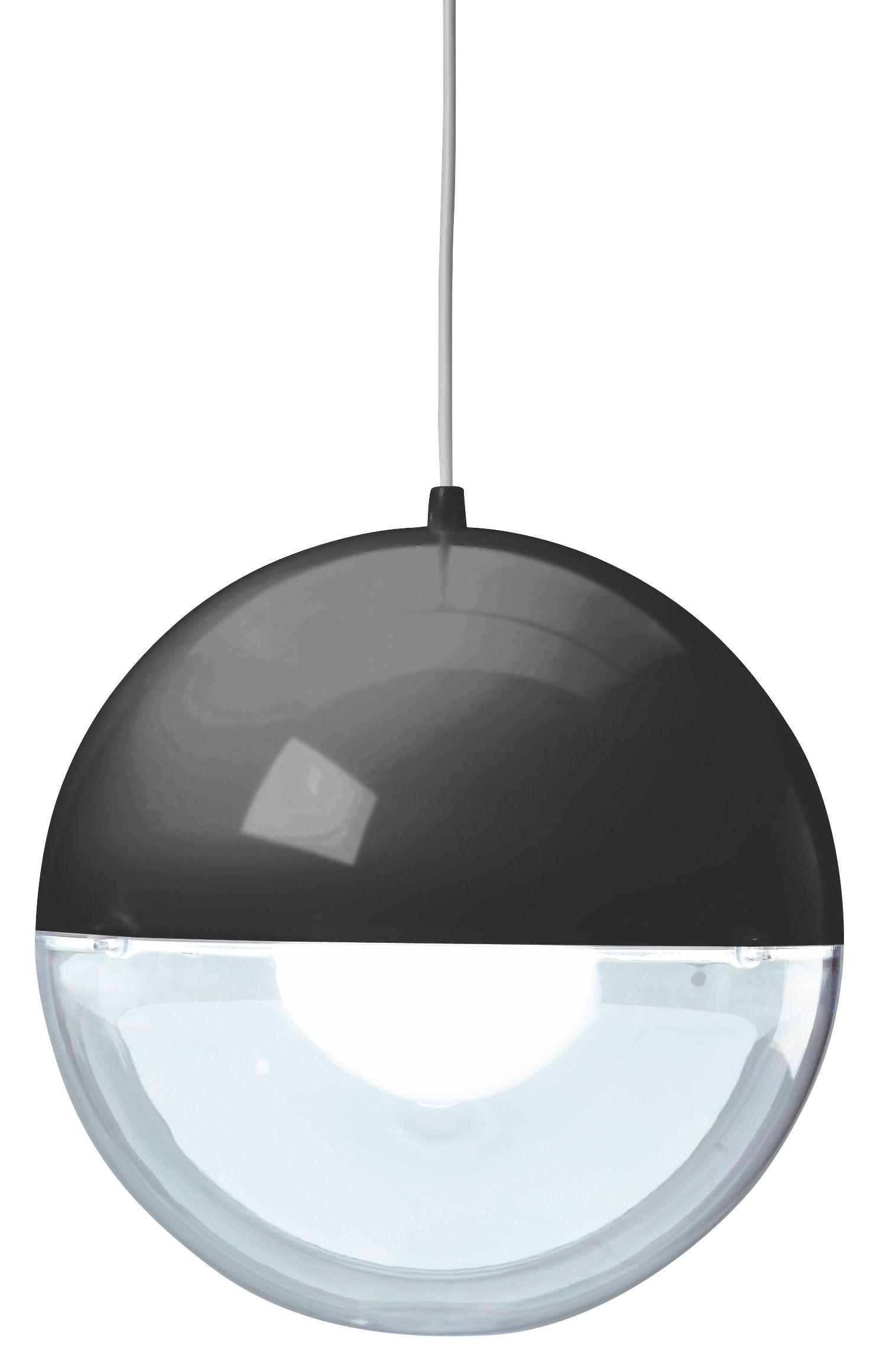 Illuminazione - Lampadari - Sospensione Orion di Koziol - Nero / Trasparente - Polistirene