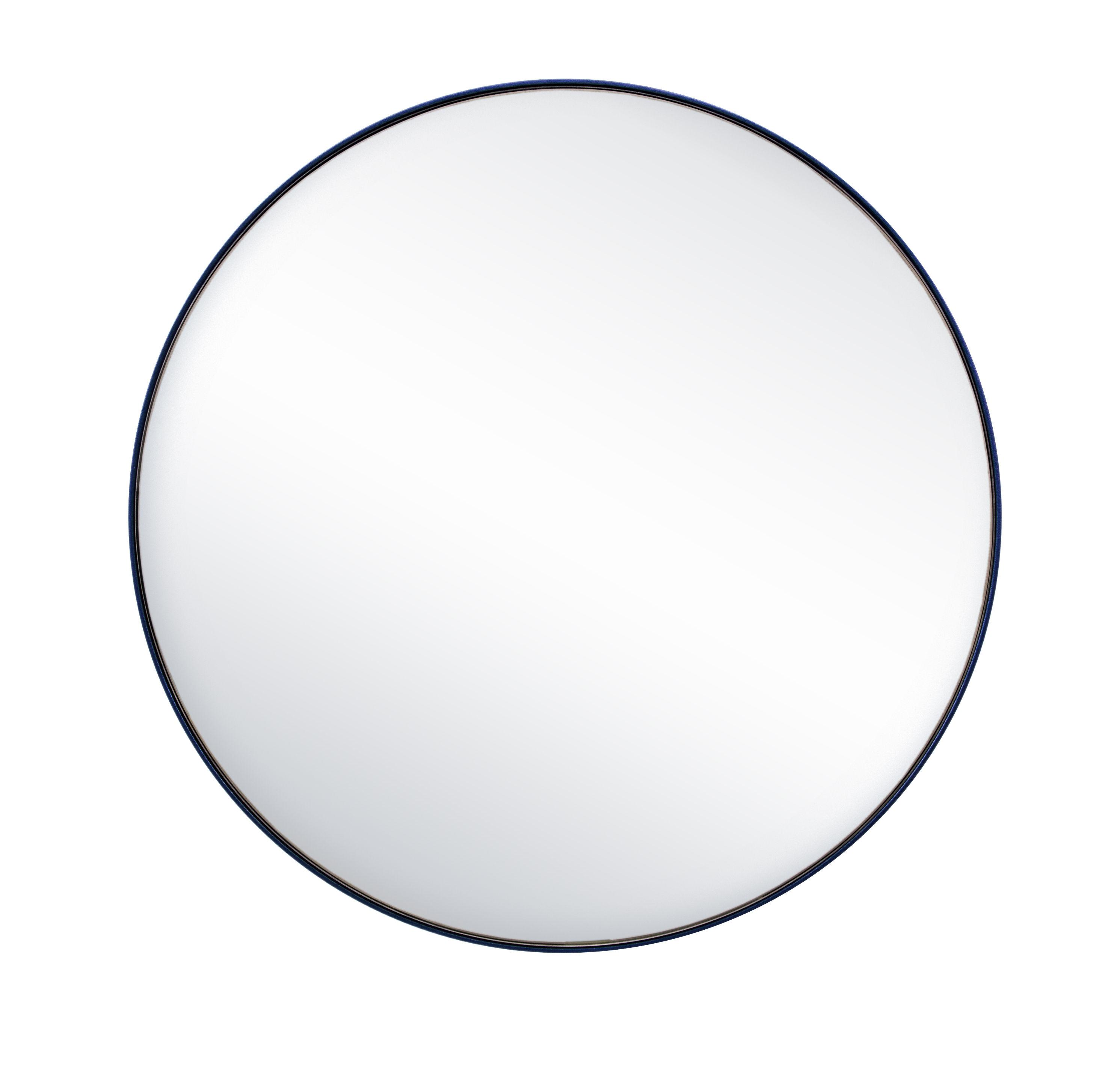 Interni - Specchi - Specchio G16 / Ø 44,8 cm - Acciaio - Tolix - Blu notte - Acciaio riciclato laccato, Vetro lucidato