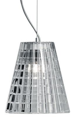 Suspension Flow Ø 12cm - Fabbian transparent en métal/verre