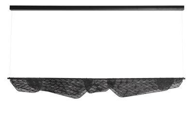 Suspension Méditerranéa LED / L 160 cm - Métal perforé - Petite Friture noir en métal