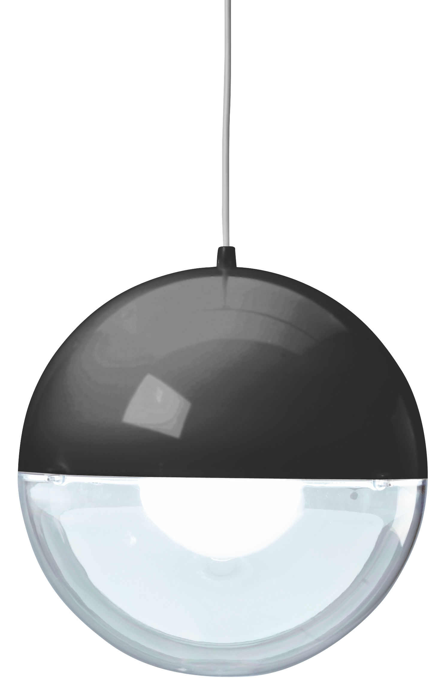 Luminaire - Suspensions - Suspension Orion / Ø 32 cm - Koziol - Noir / Transparent - Polystyrène