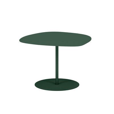 Table basse Galet n°3 OUTDOOR / 57 x 64 x H 37 cm - Matière Grise vert en métal
