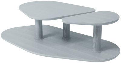 Table basse Rounded Medium / 119 x 61 cm - Marcel By gris en bois