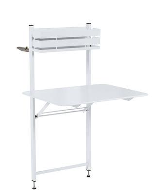 75acf77774166 Table pliante Balcon Bistro / Rabattable - 77 x 64 cm - Fermob blanc coton  en