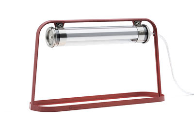 Astrup LED Tischleuchte / L 60 cm - SAMMODE STUDIO - Silber,Transparent,Marsalarot