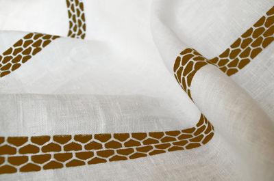 Tavola - Tovaglie e Tovaglioli - Tovaglia in tessuto Lugo - / 230 x 140 cm - tessuto di Internoitaliano - Ruggine - Puro lino
