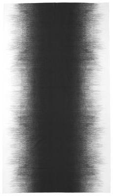 Tavola - Tovaglie e Tovaglioli - Tovaglia in tessuto Pen - / 140 x 240 cm di Ferm Living - Grigio nero - Cotone