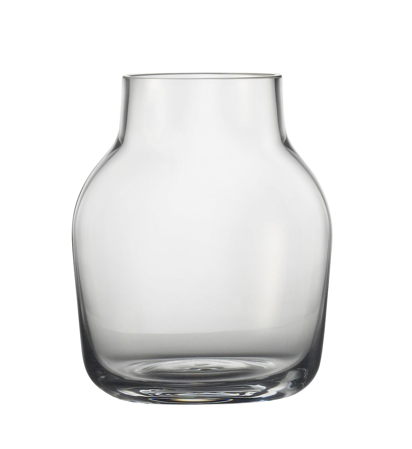 Dekoration - Vasen - Silent Vase / Ø 11 cm - Muuto - Transparent - geblasenes Glas