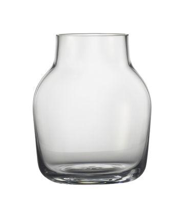 Interni - Vasi - Vaso Silent / Ø 11 cm - Muuto - Trasparente - vetro soffiato