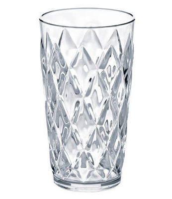 Arts de la table - Verres  - Verre long drink Crystal / H 15 cm - Koziol - Transparent - Plastique