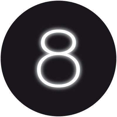 Applique con presa Neon Art - / Lampada  8 di Seletti - Bianco - Vetro