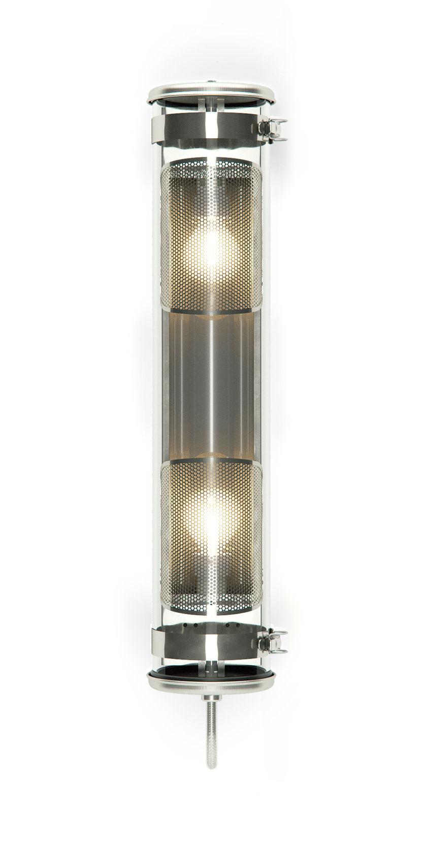 Illuminazione - Lampade da parete - Applique Rimbaud Grillagée - / Sospensione - L 68 cm di SAMMODE STUDIO - Argent / Acier - Acciaio inossidabile, Alluminio anodizzato, Verre borosilicaté