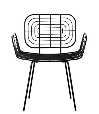Furniture - Chairs - Boston Armchair - / Metal by Pols Potten - Black - Lacquered metal