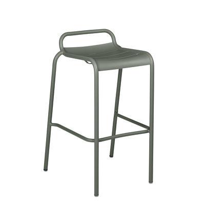 Möbel - Barhocker - Luxembourg Barhocker / Aluminium - H 78 cm - Fermob - Rosmarin - bemaltes Aluminium
