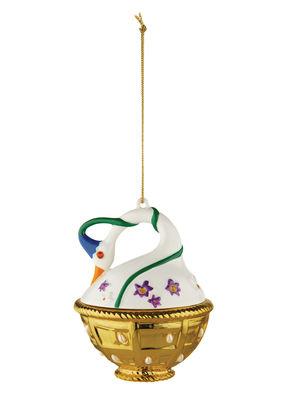 Boule de Noël Faberjorì / Cigno di Primavera - Porcelaine peinte main - Alessi multicolore en céramique