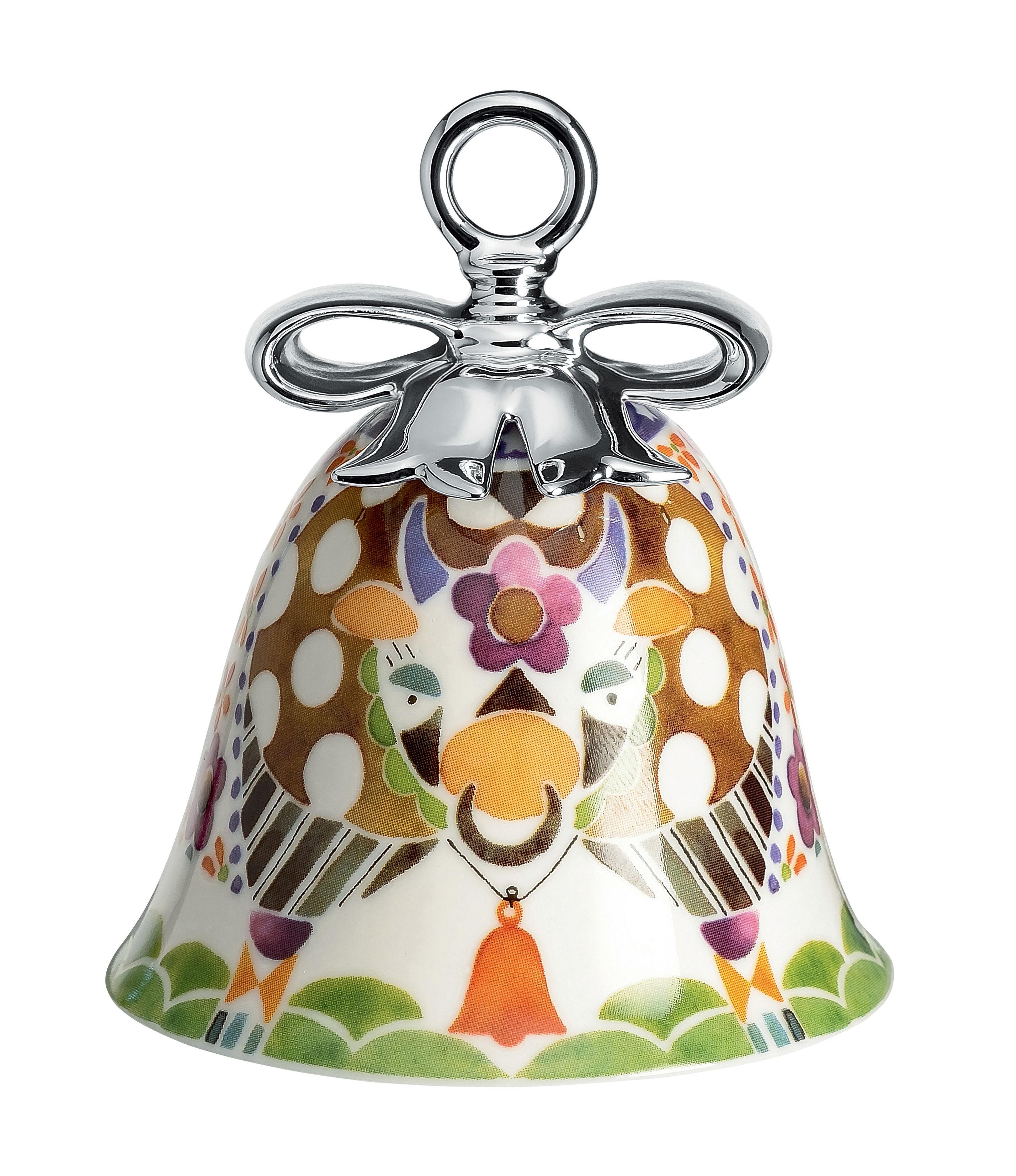 Déco - Objets déco et cadres-photos - Boule de Noël Holy Family / Cloche Le Boeuf - Porcelaine peinte main - Alessi - Le Bœuf / Multicolore - Porcelaine peinte